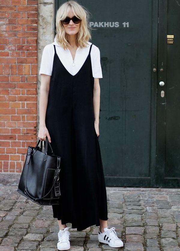 look-white-tshirt-black-dress-sneakers-adidas-originals
